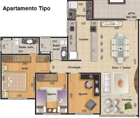 Apartamento 03 quartos no havaí. financie, use fgts. - Foto 2
