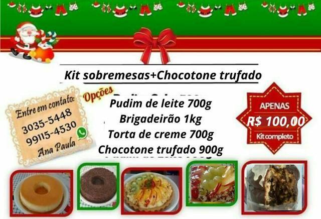 Kit sobremesas R$ 100,00