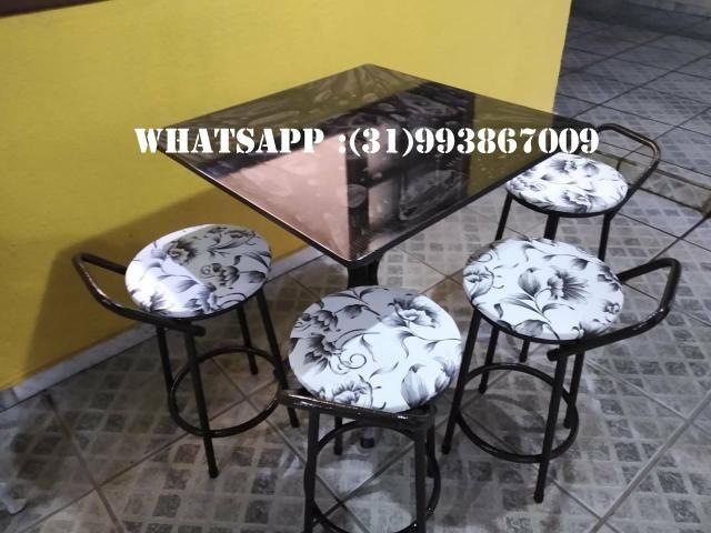 Mesas de 4 Cadeiras Direto Da Fábrica - Foto 3