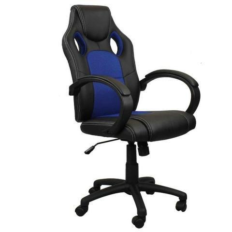 Cadeira Gamer DTX Pro Preta Azul Altura Regulável