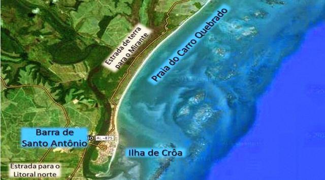Litoral Norte - Barra de Santo Antônio - Ilha da Croa - Em Rua Pavimentada - Foto 15