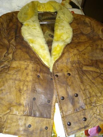 Vendo casaco de couro novo