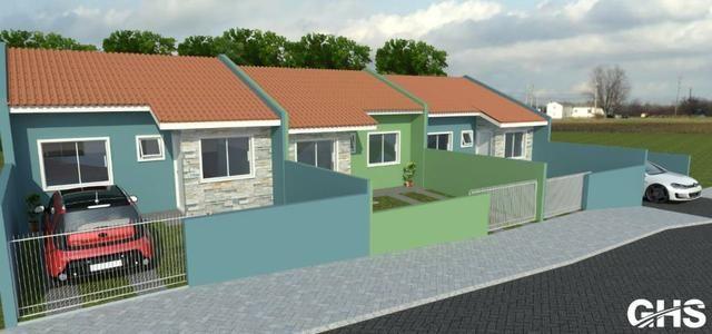 Casas novas 3 dormitorios bairro jd ceu azul campo largo, entrada facilitada - Foto 4