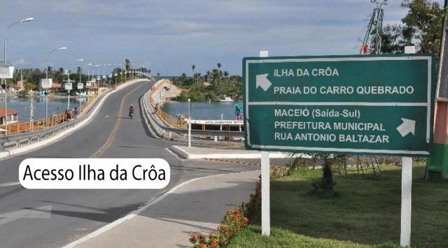 Litoral Norte - Barra de Santo Antônio - Ilha da Croa - Em Rua Pavimentada - Foto 2
