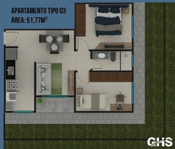Apartamentos em construcao, bairro cercadinho, cidade campo largo entrada facilitada - Foto 7