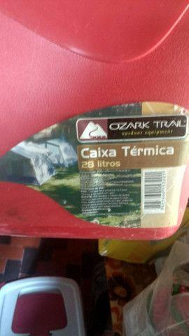 Caixa térmica Cooler 28 litros - Foto 2
