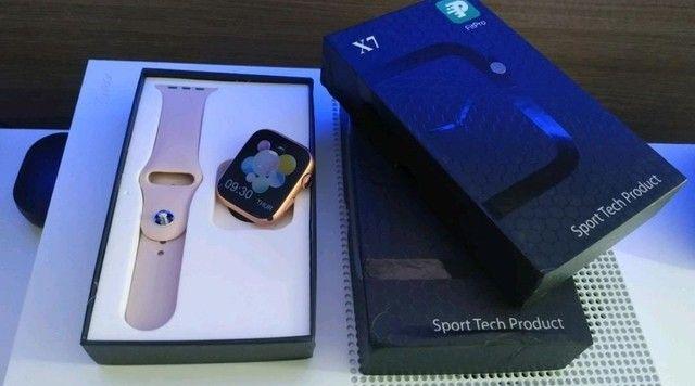 Smartwatch Pulseira inteligente Completa 44mm Bluetooth - Foto 2