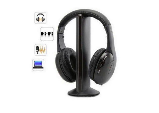 Earphone  5x1 Sem Fio Hi-fi Bluetooth Headphone, Tv, Rádio, novo na caixa e sem uso - Foto 3