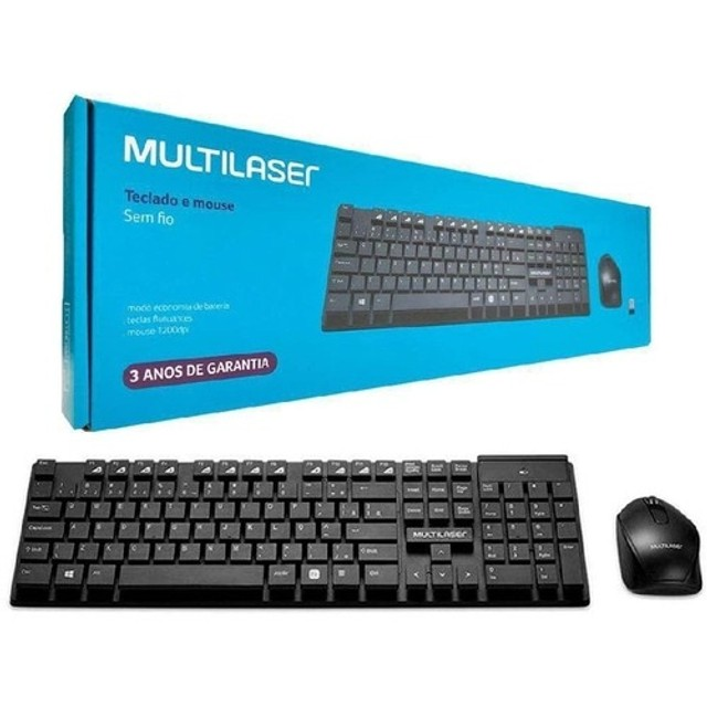 Teclado E Mouse Sem Fio Multilaser Tc251 2.4ghz- Rf Informatica - Foto 2