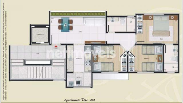 Apartamento à venda com 3 dormitórios em Itapoã, Belo horizonte cod:801890 - Foto 2