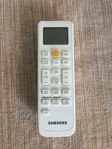 Controle do ar condicionado split Samsung 12.000 BTUS