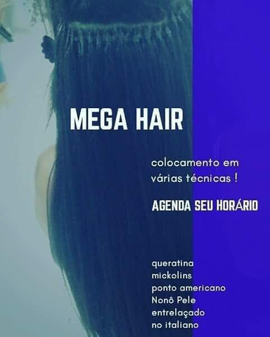 Colocamento mega hair