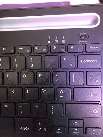 Oex - teclado bluetooth 3.0 com suporte - novo!!!  - Foto 5