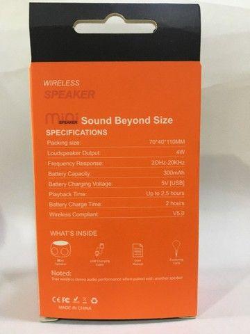 Caixa de som Bluetooth , Mini speaker de metal Amplificada 4w - Foto 6