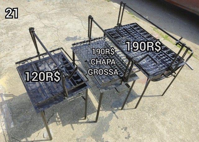 churrasqueira grande tambo entrega gratis  brinde 2 saco Carvão##@@ - Foto 2
