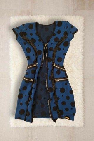 Vestido Azul de bolinhas  - Foto 2