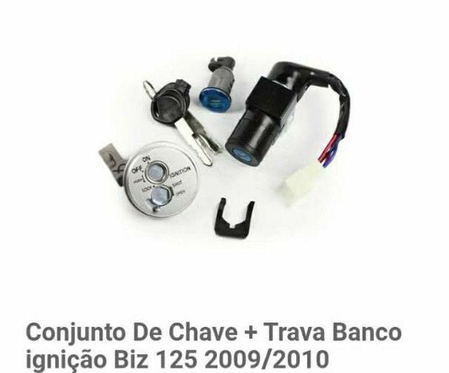 Conjunto De Chave + Trava Banco ignição Biz 125 2009/2010