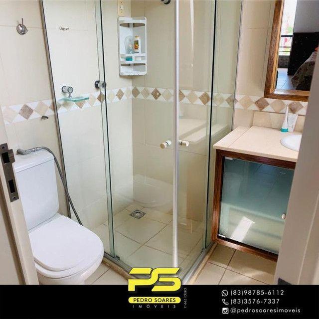 (MOBILIADO) Apartamento com 3 dormitórios para alugar, 166 m² por R$ 6.000/mês - Tambaú -  - Foto 15