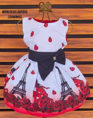 Vestido Ladybug Vários Tamanhos