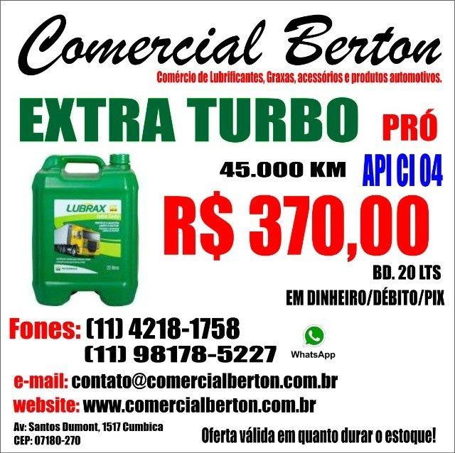 Óleo Lubrax extra Turbo pró 15w40 Api CI 04 Balde 20 lts
