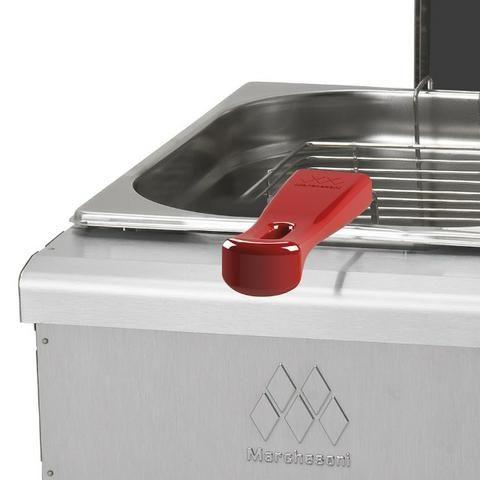 Fritadeira a gás 2 Cubas 4 litros em cada Marchesoni -Novo - Foto 5