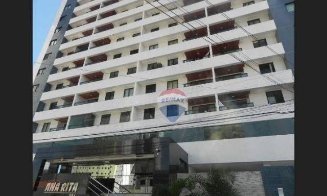 Apartamento com 3 dormitórios para alugar, 122 m² por R$ 2.400,00/mês - Manaíra - João Pes