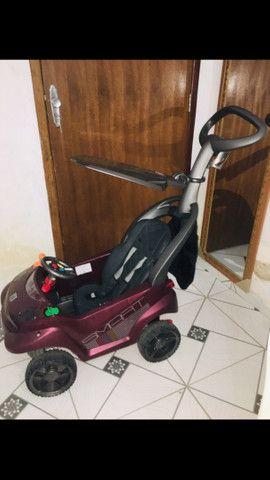 Carrinho de passeio Smart baby comfort vinho- bandeirante - Foto 3