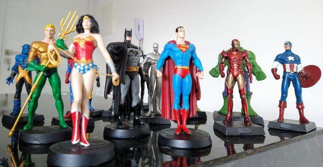 Coleção miniaturas de heróis (14 peças) - Foto 4
