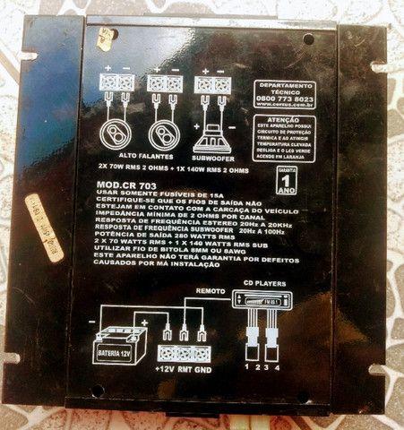 Módulo corzus cr 703 280 watts rms - Foto 2