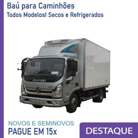 Baú Refrigerado e Baú Seco para Caminhão Modelo Anos 2012...