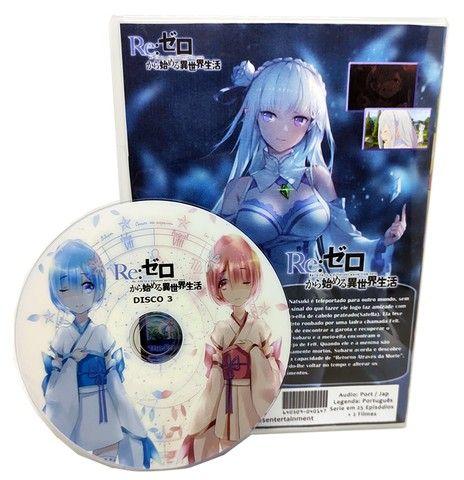 Box Dvd Re: Zero Kara Hajimeru Isekai Seikatsu Dub + Filmes - Foto 2