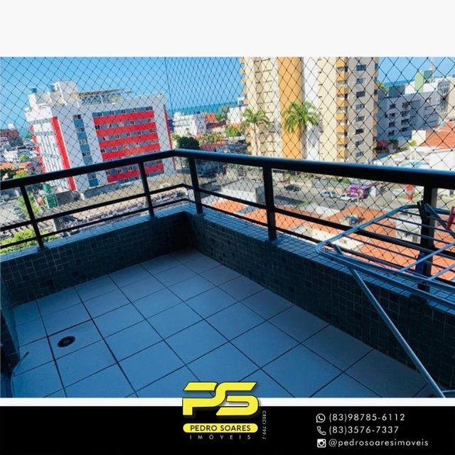 (MOBILIADO) Apartamento com 3 dormitórios para alugar, 166 m² por R$ 6.000/mês - Tambaú -  - Foto 2
