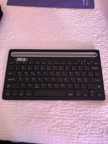 Oex - teclado bluetooth 3.0 com suporte - novo!!!