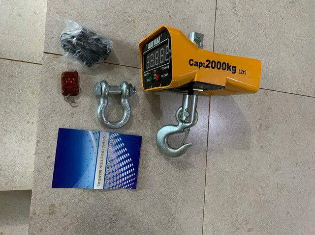 Balança Suspensa Pesagem Big Bag 2 Toneladas 2000kg Gancho - Foto 3