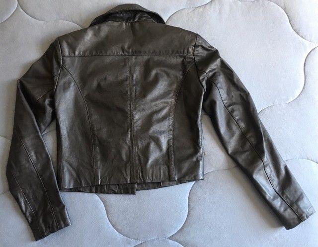 Jaqueta perfecto em couro legítimo - Foto 2