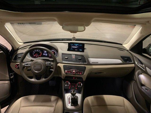 Audi Q3 Ambition Quattro 2.0 211cv - 2013 -Interior Caramelo - Foto 10