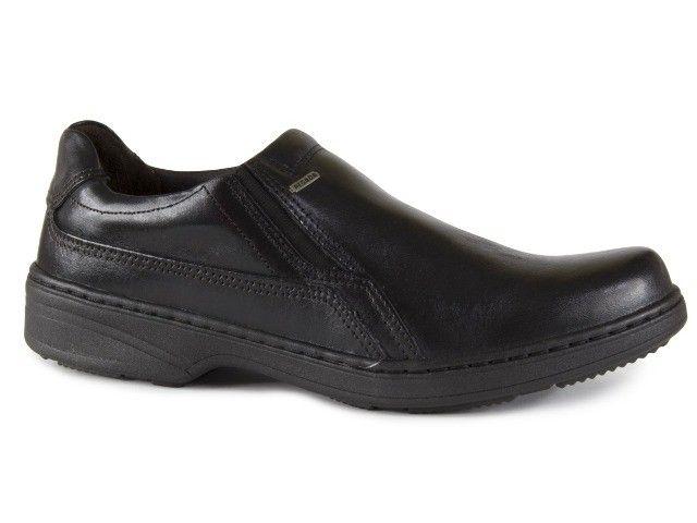 Sapato Social Masculino De Couro Pegada Preto 21206-1 N° 38