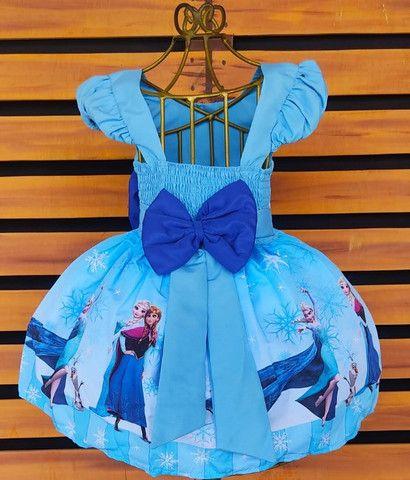 Vestido Frozen Tamanho 8 - Foto 2