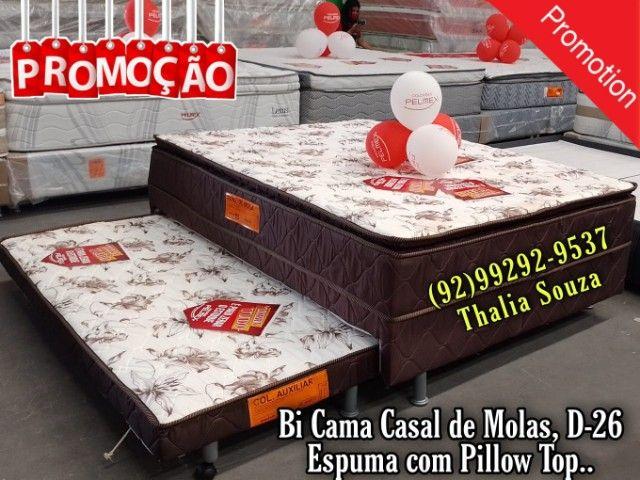 Bi cama cama Casal D26 de molas// Atacado e Varejo Frete Grátis ;;>><