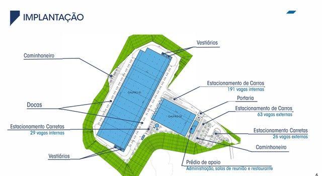 Galpão/Depósito/Armazém para aluguel possui 9956 metros quadrados - Foto 3