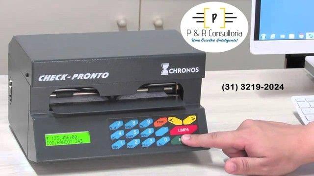 Máquina de Preencher Cheques Multi 31100, SemiNova. Completa. - Foto 3
