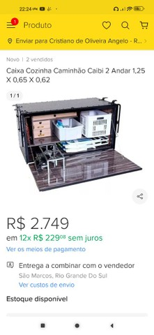 Caixa de cozinha Caibi semi nova barata - Foto 2