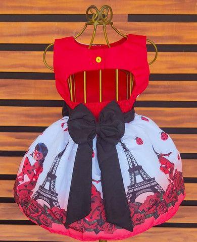 Vestido Ladybug Vários Tamanhos - Foto 2