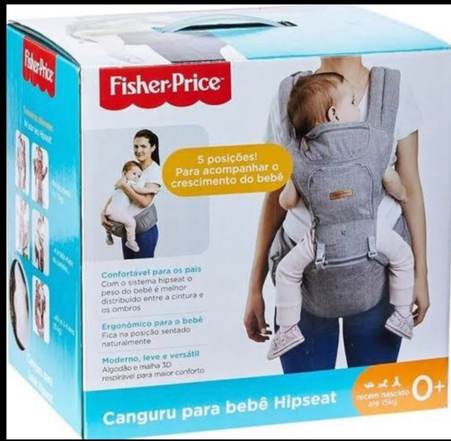 canguru para bebe hipseat fisher price