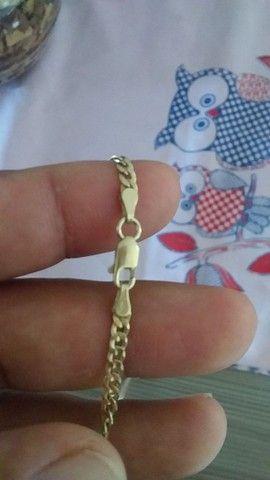 Cordão prata banhado a ouro. - Foto 3