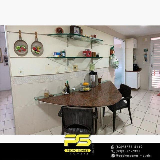 (MOBILIADO) Apartamento com 3 dormitórios para alugar, 166 m² por R$ 6.000/mês - Tambaú -  - Foto 14