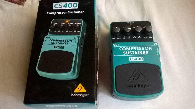 Pedal Compressor Sustainer Behringer CS 400 (Top)