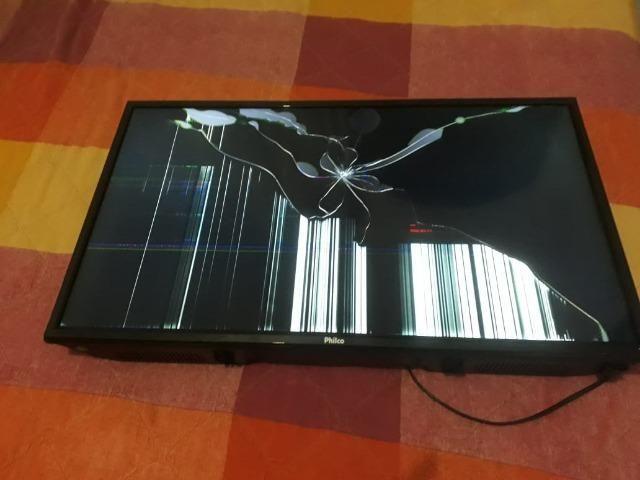 9984efe8b6d Smart TV Hd Philco LED 32 polegadas PH32B51DSGW  Tela quebrada ...