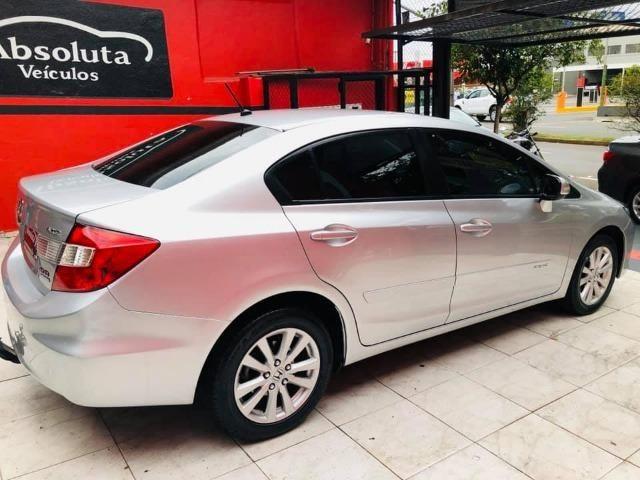 Honda Civic 2014 lxr automático + kit multimídia, carro impecável !!! - Foto 8