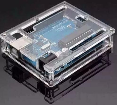 COD-AM3 Case Gabinete Box Caixa Arduino Uno R3 Acrilico Transparente